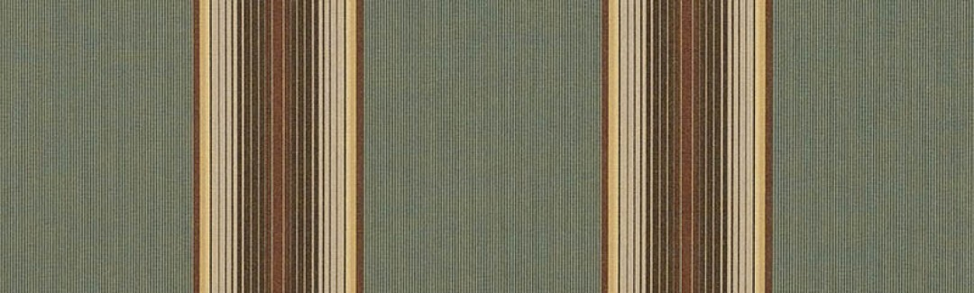 Forest Vintage Bar Stripe 4949 0000 Sunbrella Fabric