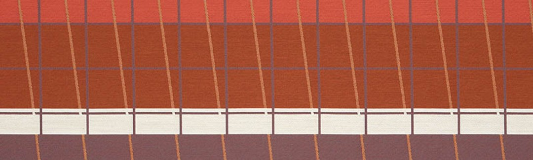 Lines On Stripes Scarlet 490-27 Detailed View