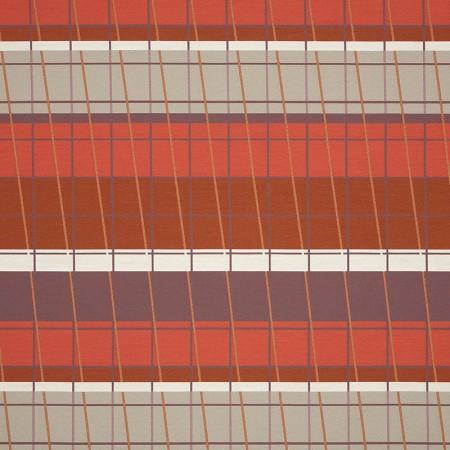 Lines On Stripes Scarlet 490-27