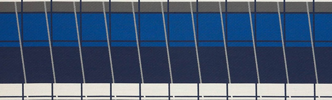 Lines On Stripes Deep Cobalt 490-55 Detailed View