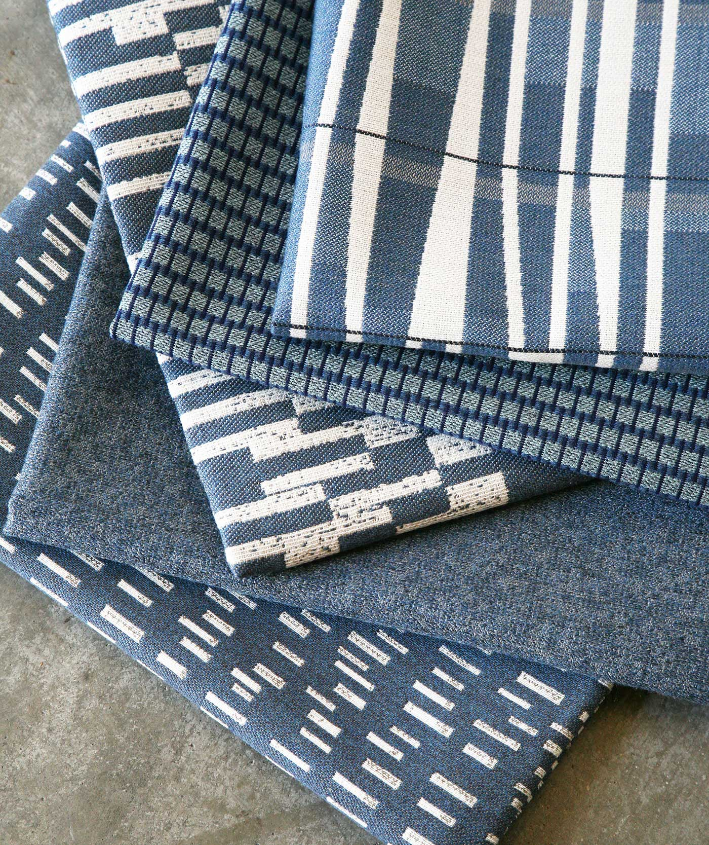 Blue Stack of Fabrics designed by Richard Frinier