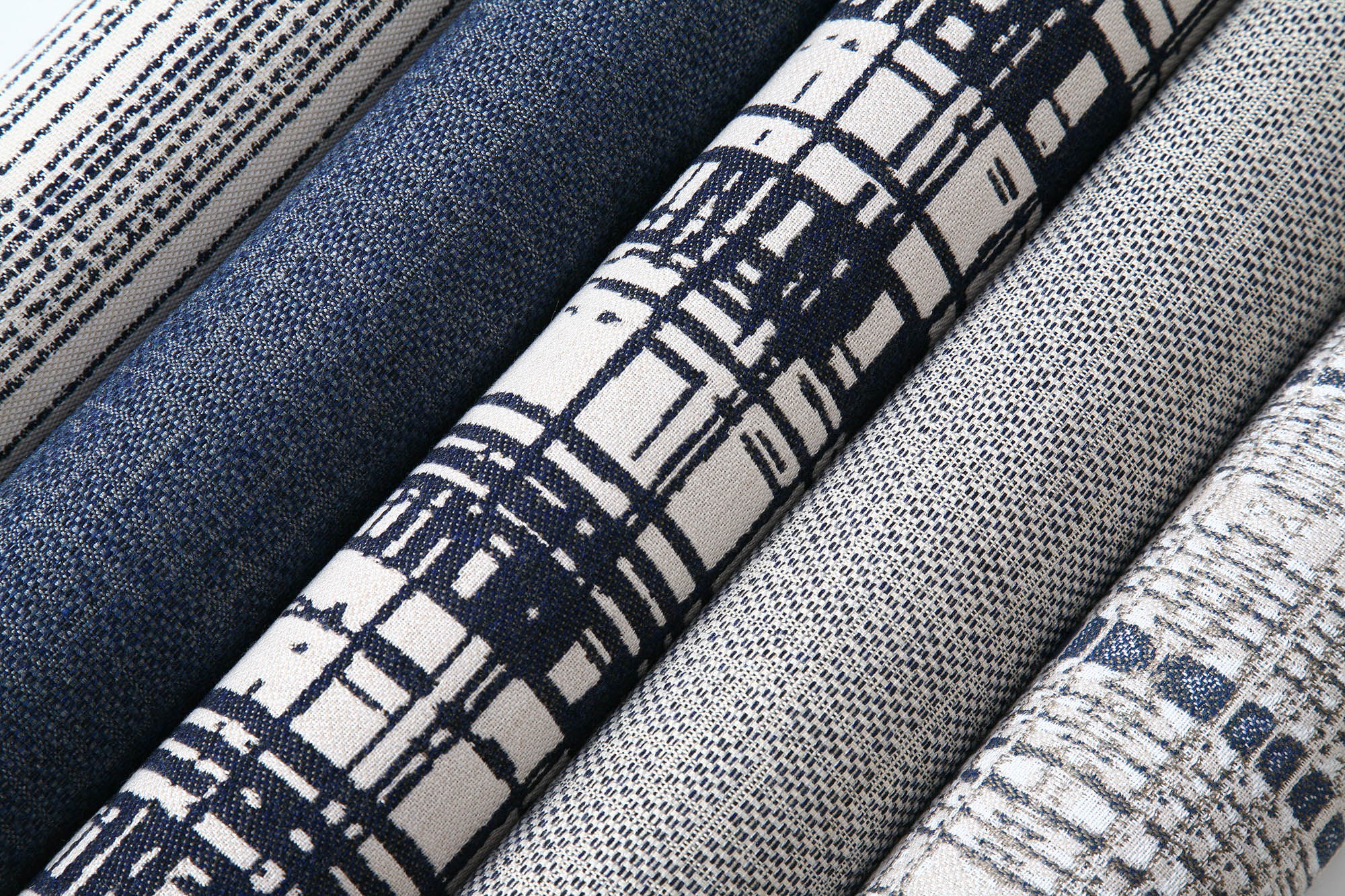 A selection of upholstery fabrics from the Richard Frinier Network Collection