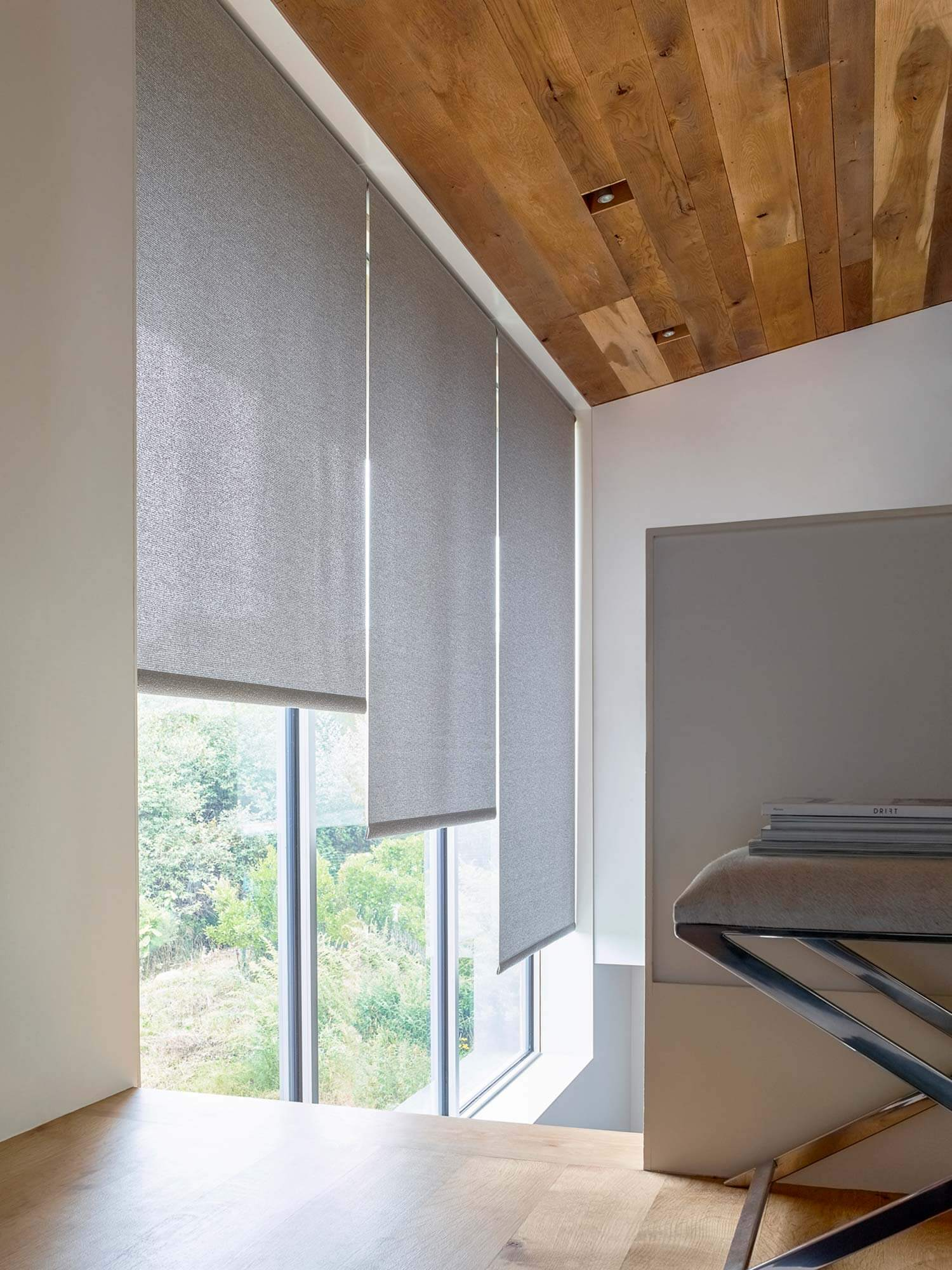 Solar shades offer a beautiful look while providing UV protection and glare reduction