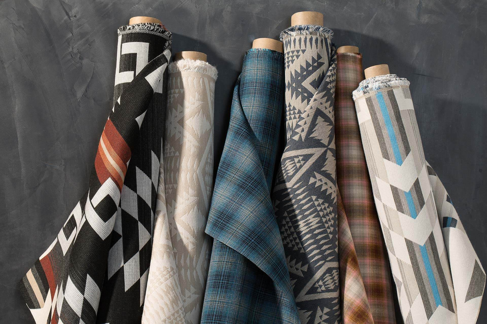 Selected fabrics from Pendleton by Sunbrella, available through The Shade Store