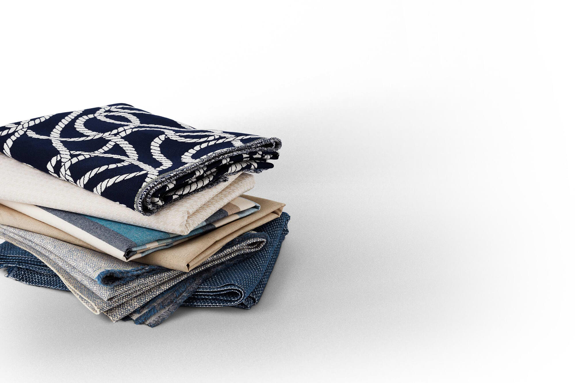 Fabrics from the Sunbrella Fusion collection