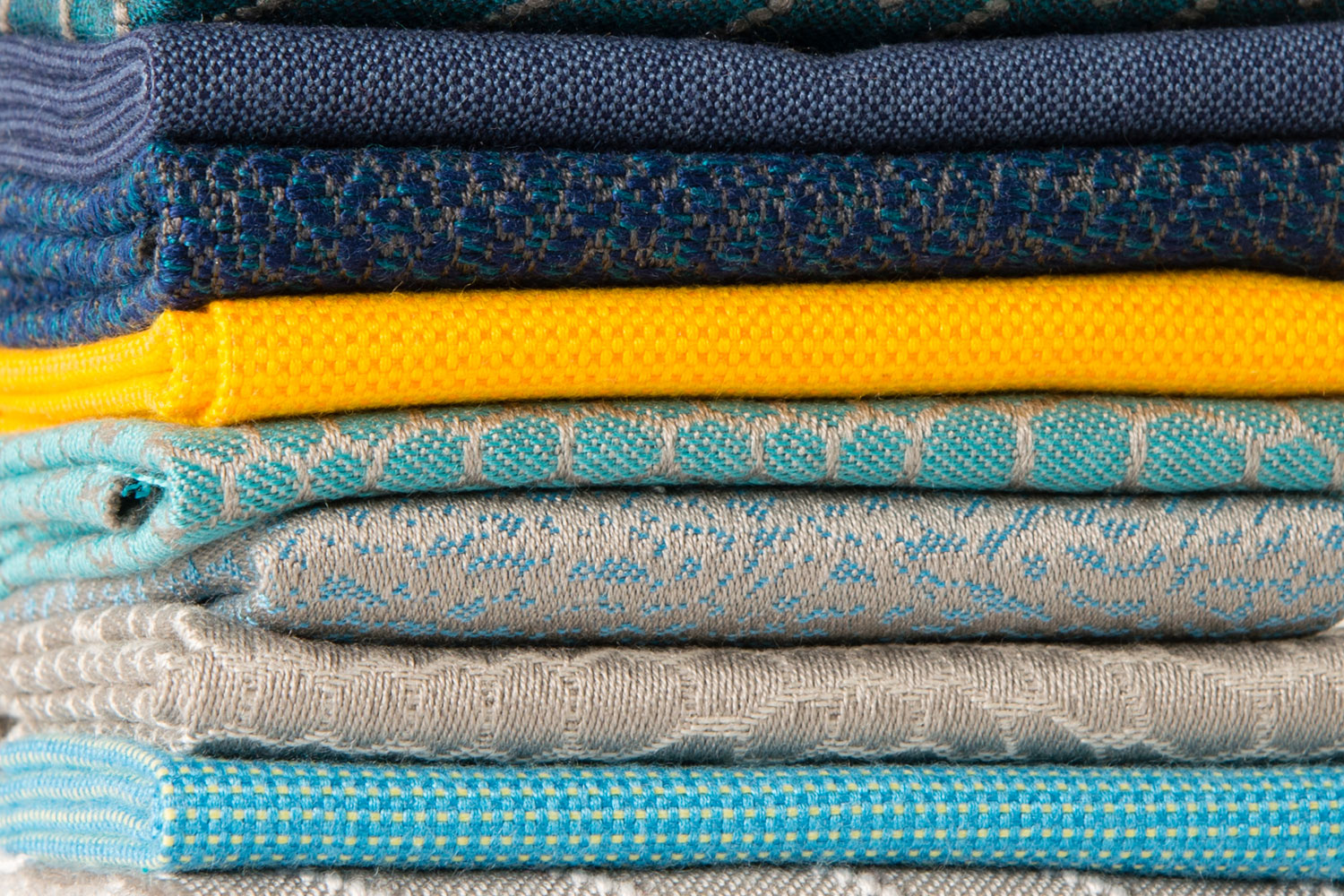 A selection of Sunbrella fabrics that illustrate the smart trend.