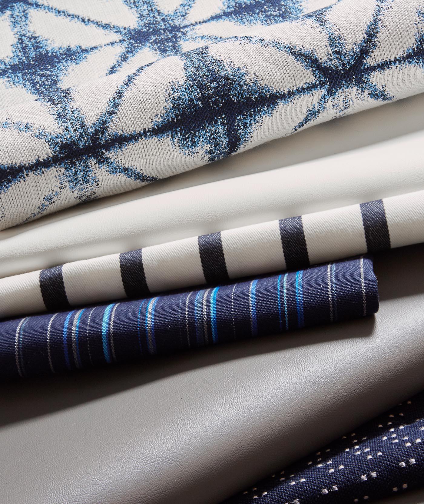 Sunbrella Marine Upholstery Collection, Blue Fabrics