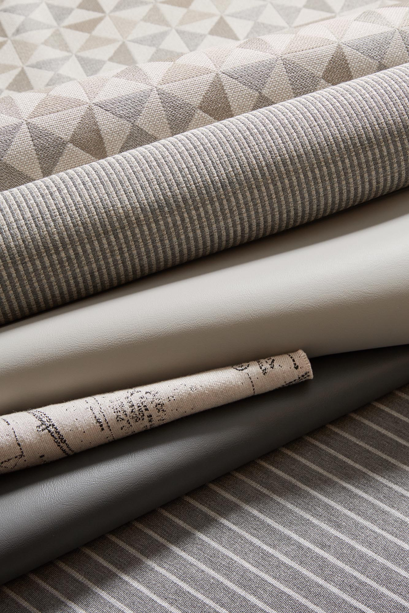 Sunbrella Marine Upholstery Collection, Grey Fabrics