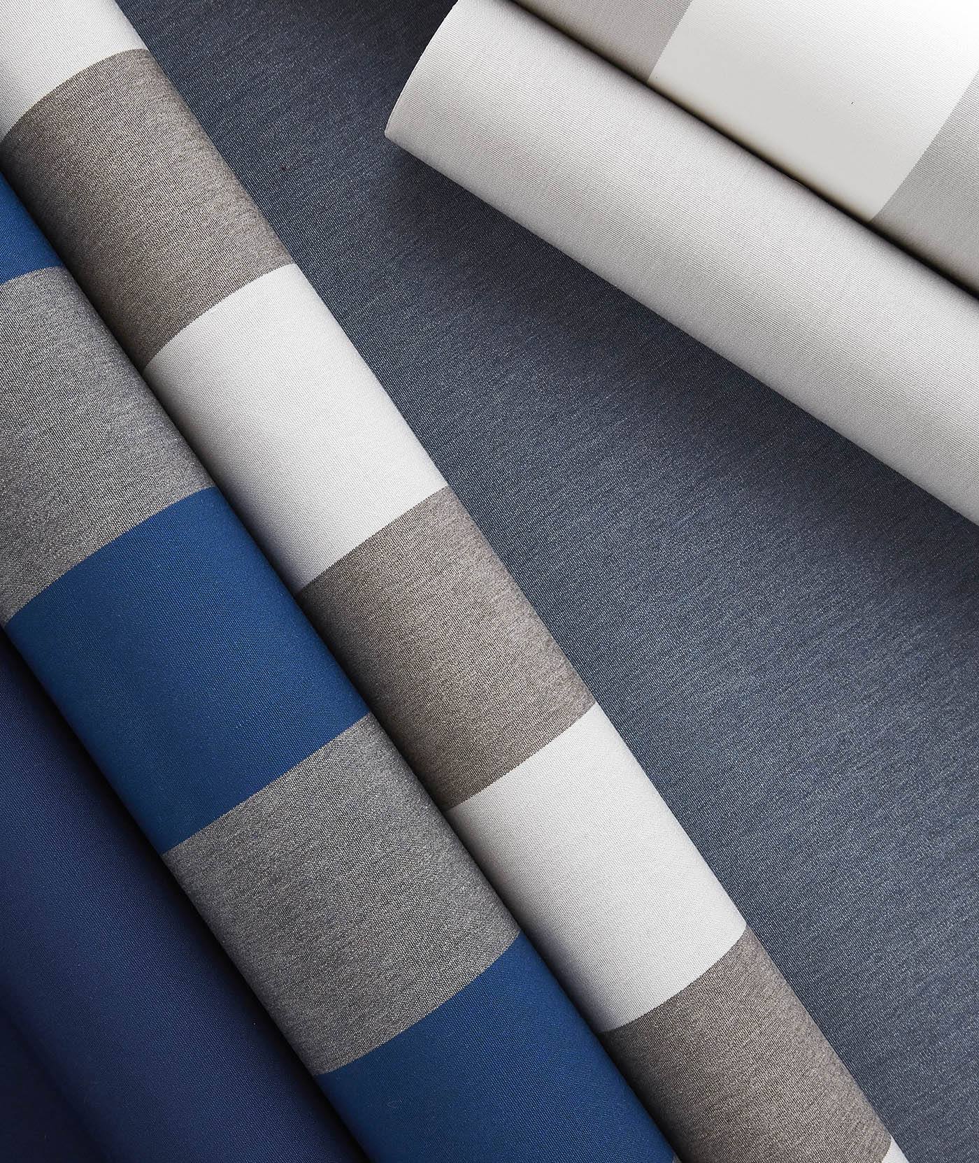 Sunbrella shade fabrics featuring new Beaufort stripes