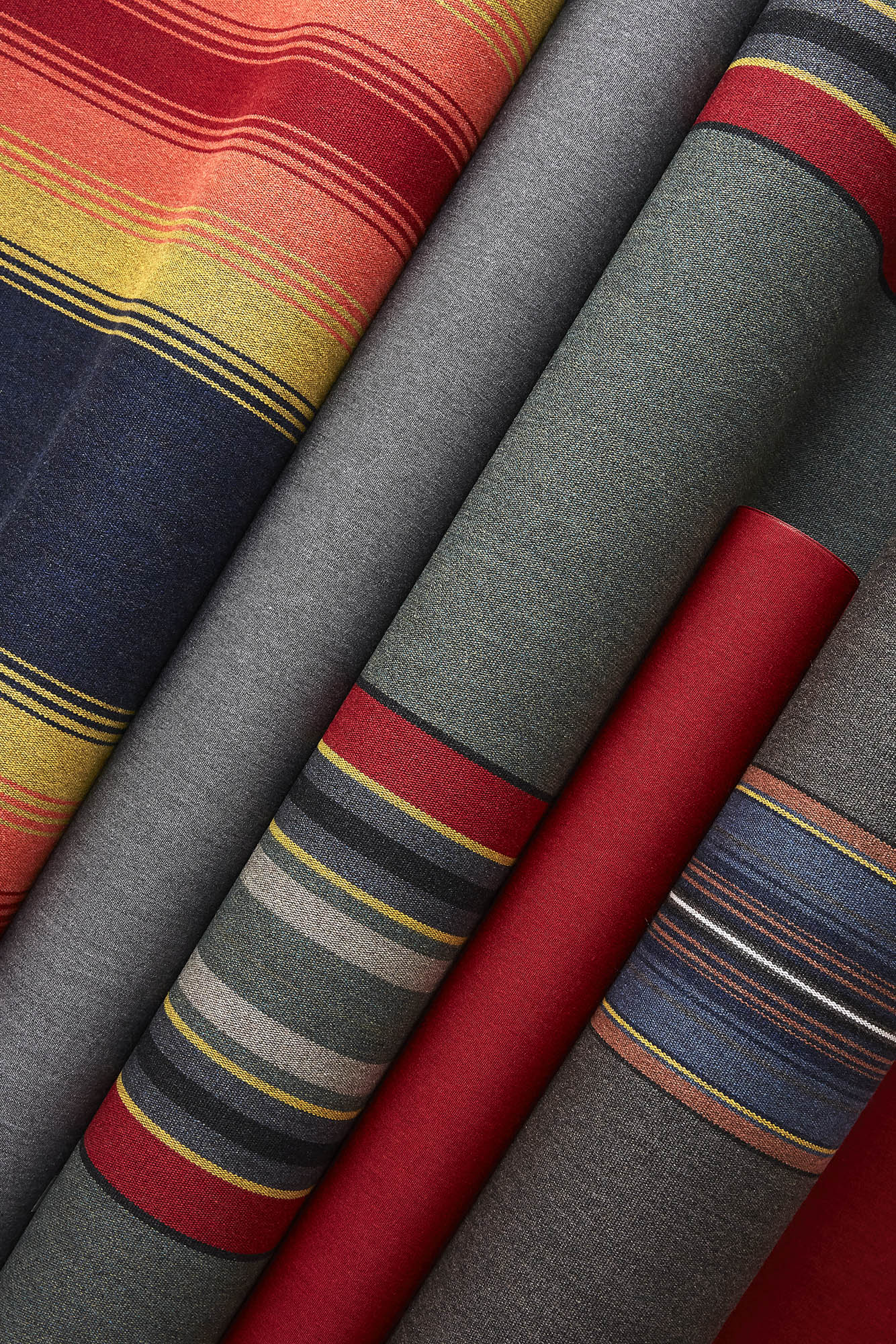 Sunbrella shade fabrics featuring the Pendleton stripes