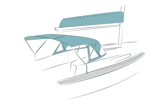 Mainsail cover / Fly bridge / Cockpit enclosure